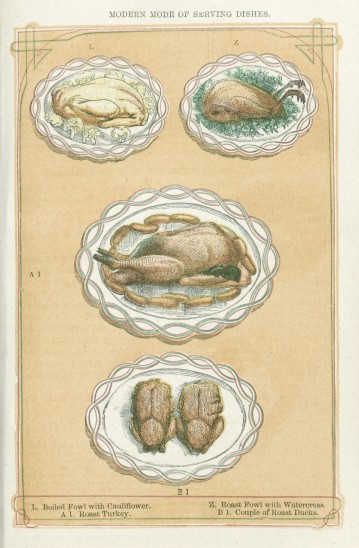How many cooks were needed to create this luscious meal? Not that many. Credit: Wellcome Library, London.